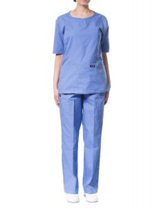jotex women scrub sky blue