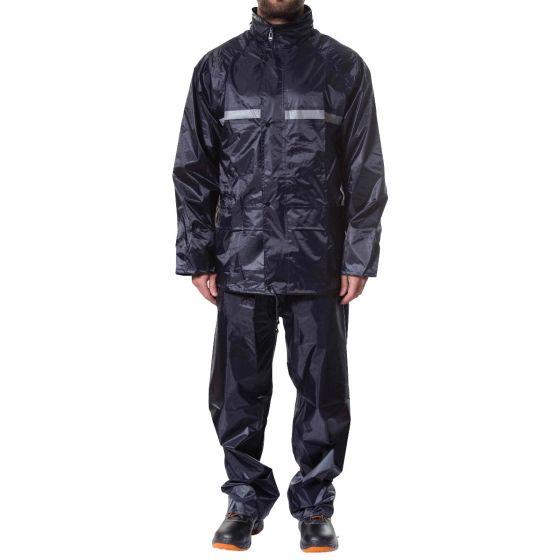 Jotex navy blue rain suit
